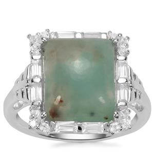 Aquaprase™Ring with White Zircon in Sterling Silver 6.85cts