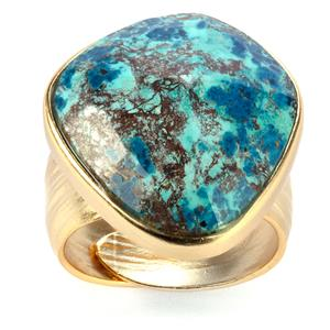 Chrysocolla Sarah Bennett Ring in Sterling Silver 16.35cts