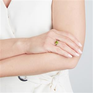 Changbai Peridot Ring in Sterling Silver 1.92cts