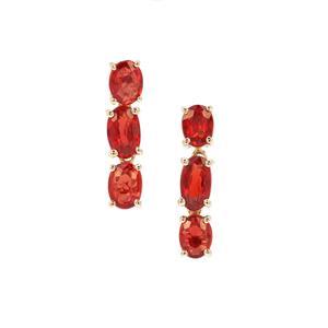 Songea Ruby Earrings in 9K Gold 1.55cts