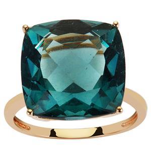 15.26ct Tucson Green Fluorite 9K Gold Ring