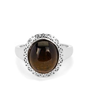 5.65ct Black Tourmaline Sterling Silver Ring