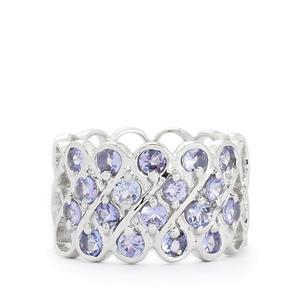 2.70ct Tanzanite Sterling Silver Ring