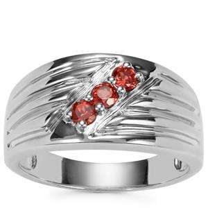 Nampula Garnet Ring in Sterling Silver 0.43cts