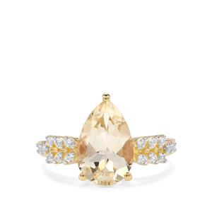 Serenite & Ceylon Sapphire 9K Gold Ring ATGW 2.91cts