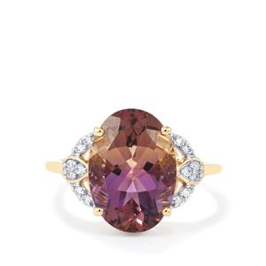 Anahi Ametrine Ring with Diamond in 14K Gold 4.99cts