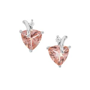 Galileia Topaz Earrings with White Zircon in Sterling Silver 4.08cts