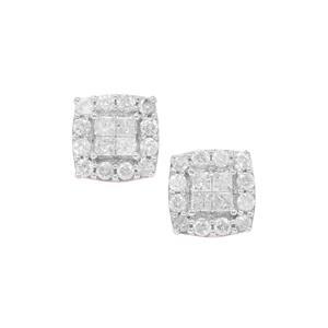 Diamond Earrings in 9K Gold 0.50ct