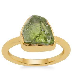 Suppatt Peridot Ring in Gold Plated Sterling Silver 7.83cts