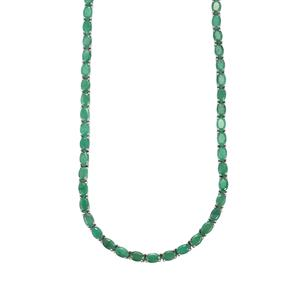 30.63ct Carnaiba Brazilian Emerald Sterling Silver Necklace