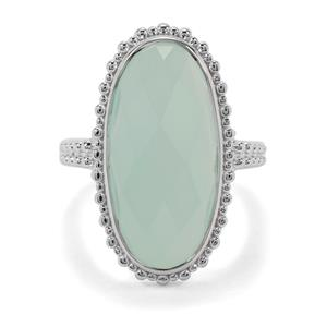 10.43ct Aqua Chalcedony Sterling Silver Ring