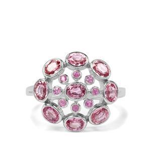 Ilakaka Origin 2.19ct Pink Sapphire Sterling Silver Ring