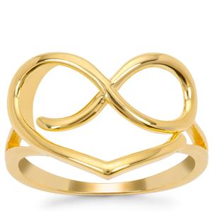 Infinity Ring in Gold Plated Sterling Silver