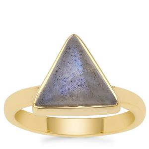 Paul Island Labradorite Ring in Gold Plated Sterling Silver 3.05cts