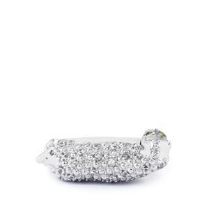 Orissa Alexandrite & White Zircon Sterling Silver Ring ATGW 0.89cts