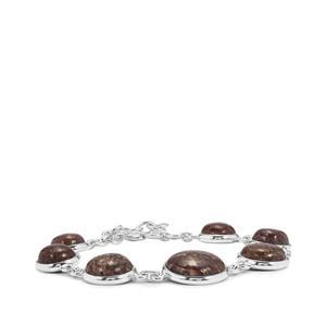 48.14ct Dinosaur Bone Sterling Silver Aryonna Bracelet