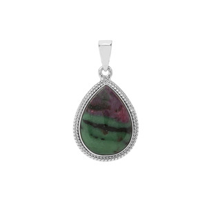 14.57ct Ruby-Zoisite Sterling Silver Indus Valley Pendant
