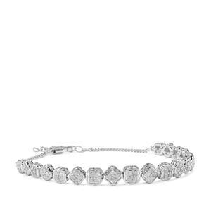 Diamond Bracelet in Sterling Silver 1.05cts