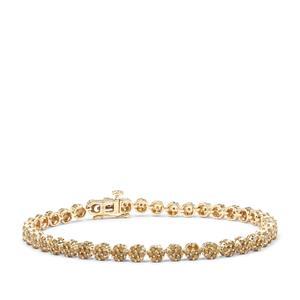 Yellow Diamond Bracelet in 9K Gold 3.25cts