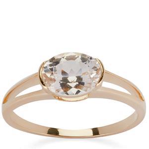 Danburite Ring in 9K Gold 1.16cts