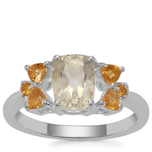 Serenite Ring with Diamantina Citrine in Sterling Silver 1.74cts
