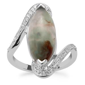 Aquaprase™ Ring with White Zircon in Sterling Silver 4.90cts