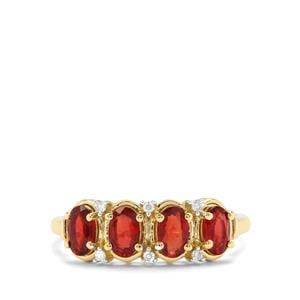 Songea Ruby & Diamond 9K Gold Ring ATGW 1.23cts