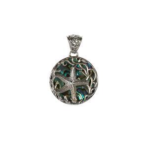 Samuel B Abalone Sterling Silver Starfish Pendant
