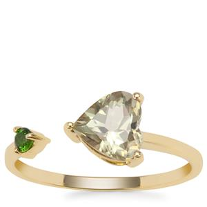 Csarite® Ring with Chrome Diopside in 9K Gold 1.34cts