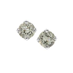Prasiolite Earrings in Sterling Silver 4.05cts
