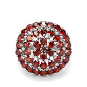 8.04ct Rajasthan Garnet Sterling Silver Ring