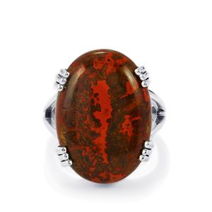 17ct Sonoreña Seam Agate Sterling Silver Aryonna Ring