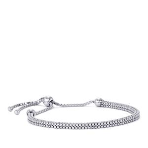 "9.5"" Diamond Cut Altro Venetian Slider Bracelet in Sterling Silver 8.59g"