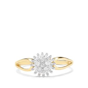 1/5ct Diamond 9K Gold Ring