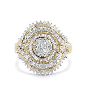 1ct Diamond 10K Gold Ring