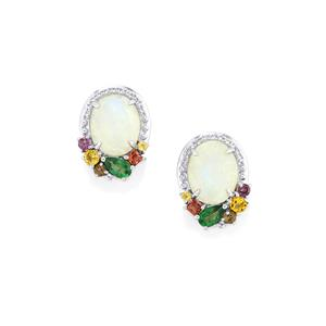 Kaleidoscope Gemstones Earrings in Sterling Silver 5.95cts