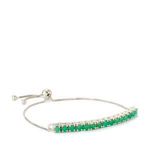 Sakota Emerald Slider Bracelet in Sterling Silver 2.55cts