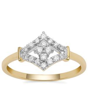 Argyle Diamond Ring in 9K Gold 0.26ct