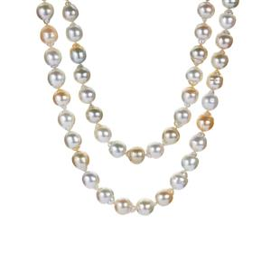 South Sea Cultured Pearl Necklace  in Sterling Silver (9mm)