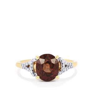 Bekily Colour Change Garnet & Diamond 18K Gold Tomas Rae Ring MTGW 3.69cts