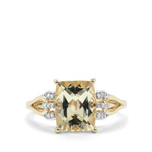 Serenite & Diamond 10K Gold Ring ATGW 2.80cts