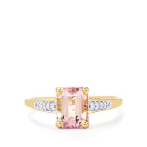 Mawi Kunzite & Diamond 10K Gold Ring ATGW 2.21cts