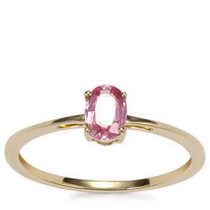 Sakaraha Pink Sapphire Ring in 10k Gold 0.51ct
