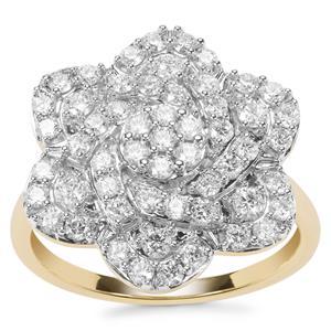 Internally Flawless Diamond Ring in 18K Gold 1ct