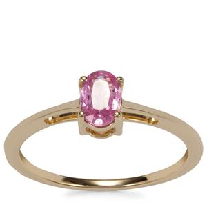 Sakaraha Pink Sapphire Ring in 10K Gold 0.52ct