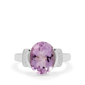 Rose De France Amethyst Ring in Sterling Silver 5.50cts