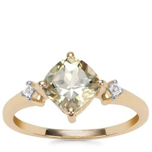 Csarite® Ring with White Zircon in 9k Gold 1.78cts