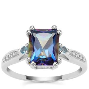 Mystic Blue Topaz Ring with London Blue Topaz in Sterling Silver 2.87cts