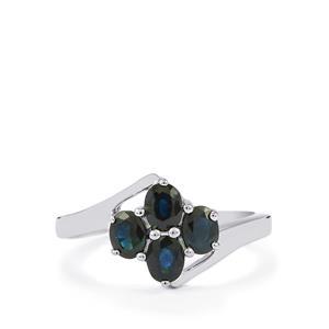 1.26ct Australian Blue Sapphire Sterling Silver Ring