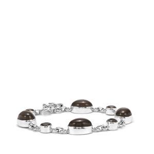 Nova Moonstone & Labradorite Sterling Silver Aryonna Bracelet ATGW 28cts